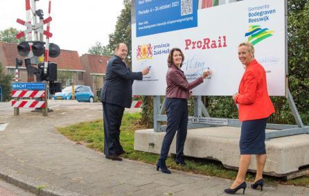 ondertekening samenwerking Spitspendel ProRail Provincie Zuid-Holland Gemeente Bodegraven-Reeuwijk