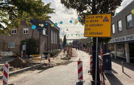 Marktstraat wegwerkzaamheden